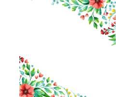 水彩手绘春花空的方框_125020990101