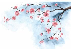 水彩樱花壁纸_124599880101