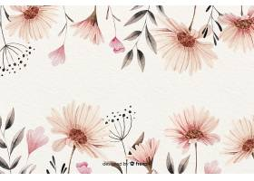 水彩画复古花卉背景_55007970102