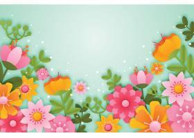 纸质逼真的春天墙纸_120671410101