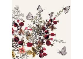 水彩画花卉背景_11944690102