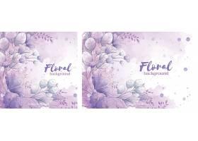 水彩花的自然背景_49072550103