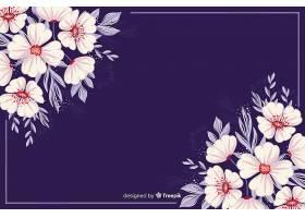自然的背景五颜六色的彩绘花朵_51702910102