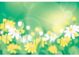 鲜艳的绿色逼真的模糊的春天背景_122012340101