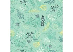 森林草本植物蓝色背景_13807090101