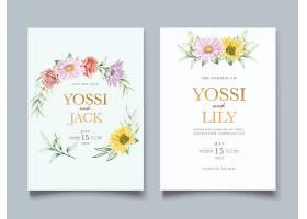 盛开的花卉春季邀请卡套装_125132590101