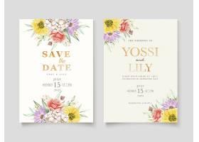 盛开的花卉春季邀请卡套装_125132640101