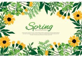 漂亮的扁平图案春季鲜花壁纸_122401900101