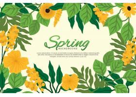 漂亮的扁平图案春季鲜花壁纸_122401930102