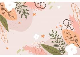 画有花朵的春色背景_122401650101