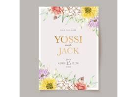 盛开的花卉春季邀请卡_124816750101