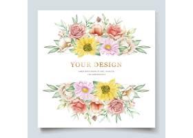 盛开的花卉春季邀请卡套装_124816860101