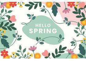 精美的平面设计春色背景花团锦簇_122402040102