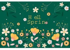 美丽的平坦的春色背景花团锦簇_122401980102