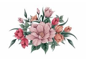美丽的水彩画花束_98468800102