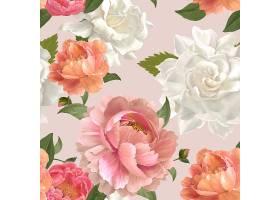美丽的花卉背景设计矢量_40421130101
