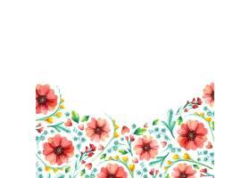 春季花卉方框植物水彩画_123316730101