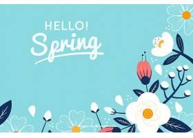 春色背景花朵扁平_20215890102