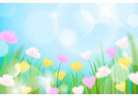 逼真模糊的春天背景_121019990101
