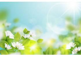 逼真模糊的春天背景_70895350101