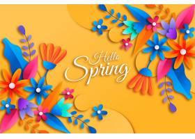 逼真的春天背景_124273530101图片