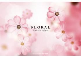 逼真的花卉背景_38847090101