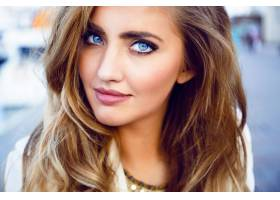 时尚写真诱人的性感女人蓝色大眼睛丰_1022265401