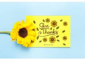 用鲜花做样机表示感谢_92616860102