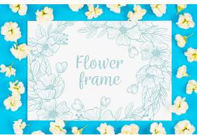 印有鲜花的卡片样机_25806010102