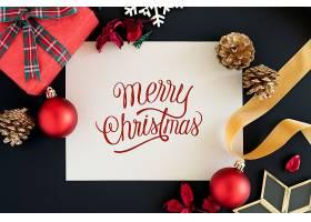 圣诞快乐贺卡样机_33849040102