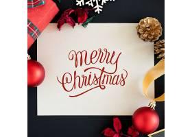 圣诞快乐贺卡样机_33849050102
