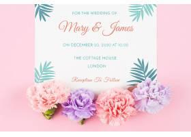 婚礼用玫瑰花卡片样机_25806090102