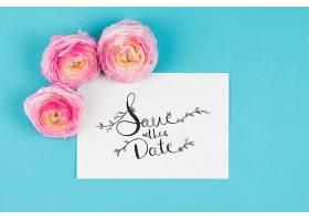 带三朵玫瑰花的卡片样机_25806000102