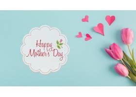 带有母亲节概念的标签样机_41843230102