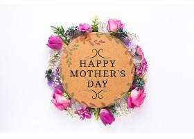 带有母亲节概念的标签样机_41843240102