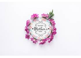 带有母亲节概念的标签样机_41843270102