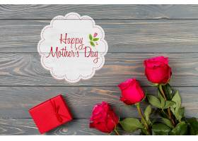 带有母亲节概念的标签样机_41843310102