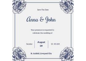 社交媒体帖子的婚礼模板_82782450101