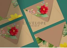 花卉信封设计_39936510102