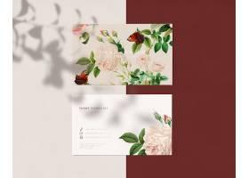 花卉名片设计_39936360102