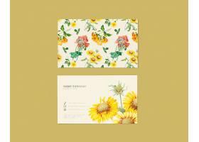 花卉名片设计_39936380102