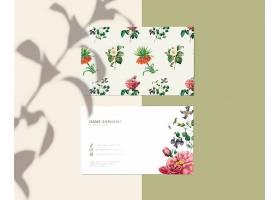 花卉名片设计_39936400102