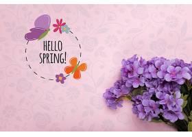 紫色泉水莲花背景