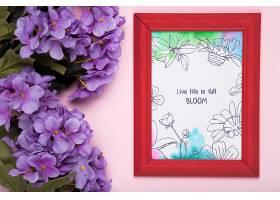 紫色兰花和相框背景