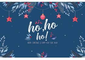 美丽的圣诞背景蓝色和红色的装饰品_109684390102