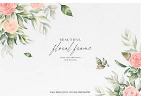 美丽的花框背景质地柔和_103080380102