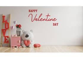 情人节情人节房间现代室内有玩偶和家居装饰_119624290102