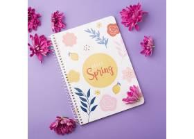 一种花卉春季用记事本模板_38816630102