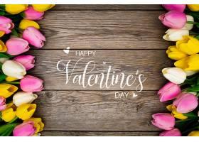 以五颜六色的鲜花为背景的情人节_65419820102