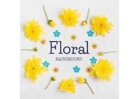 俯视花卉背景概念_70332770102